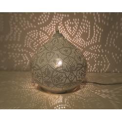 Oosterse filigrain tafellamp met prachtig licht effect Amsterdam