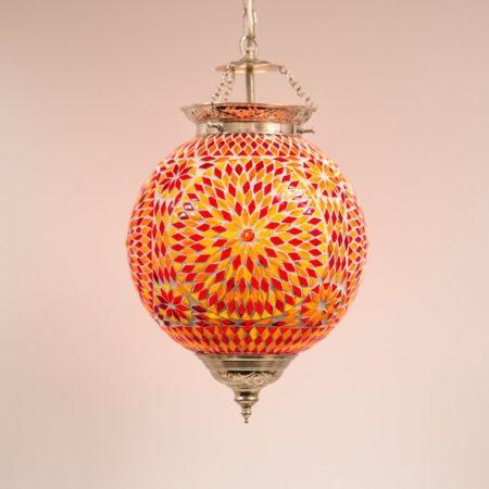Oosterse hanglamp met Marokkaans design mozaïek rood/oranje Amsterdam