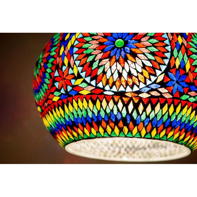Oosterse hanglamp Multi-colour mozaïek Arabische lamp
