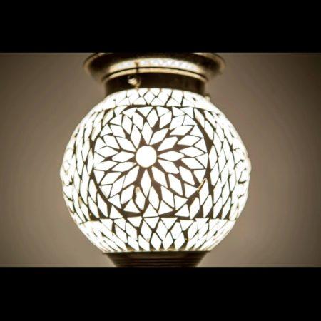 Oosterse hanglamp mozaïek transparant