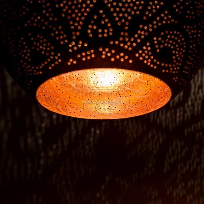 Oosterse lampen | Filigrain hanglamp druppel | Vintage koper