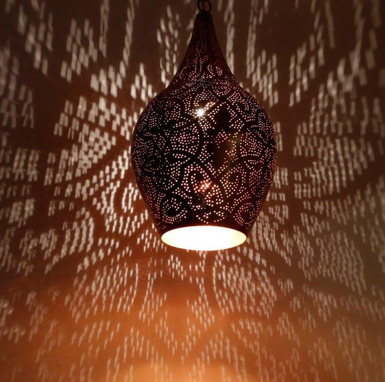 Oosterse filigrain lamp Vintage Marokkaanse lampen Oosters interieur Outlet