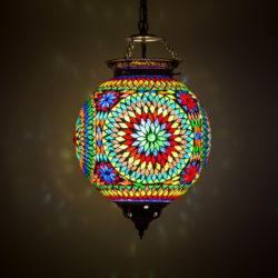 Oosterse hanglamp Mozaïek Arabische lampen kleurrijk sfeervol interieur