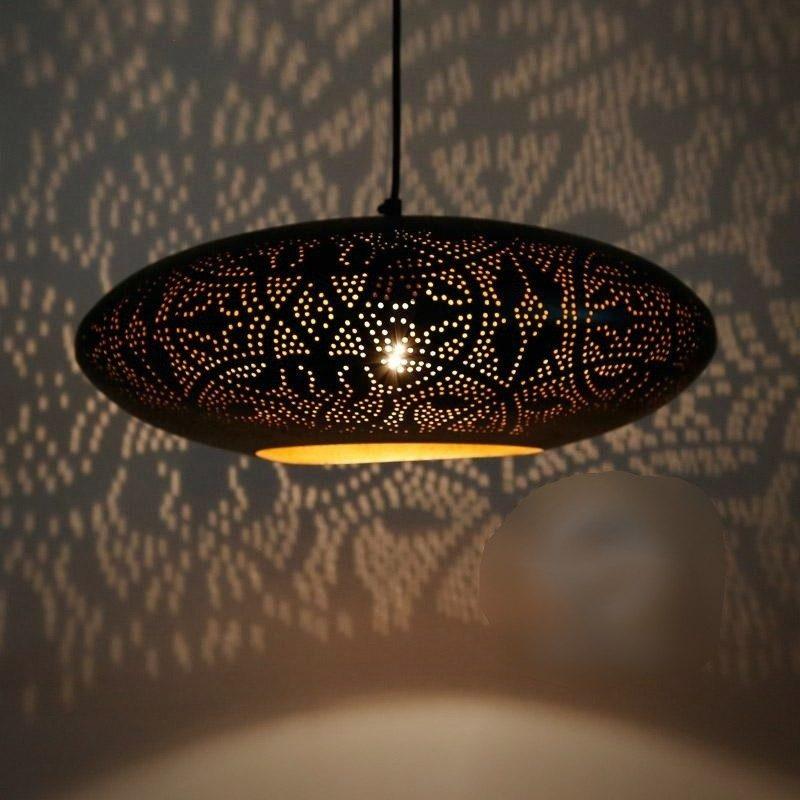 Oosterse hanglampen Gaatjes patroon Filigrain Marokkaanse lampen Oosters interieur