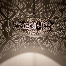 Filigrain hanglamp Ufo Oosterse lampen Marokkaanse verlichting Arabische sfeer Modern interieur
