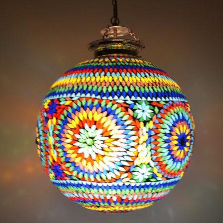 Oosterse hanglamp rond Oosters interieur mozaïek Arabische lampen