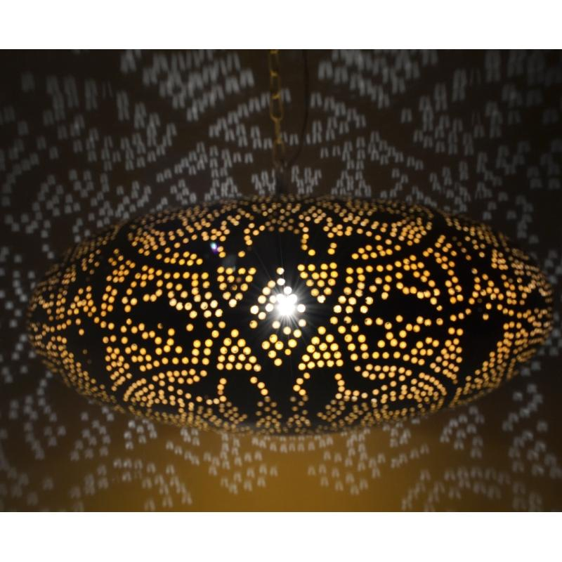 Oosterse hanglamp filigrain Ufo Metaal Gaatjes lamp Oosters interieur