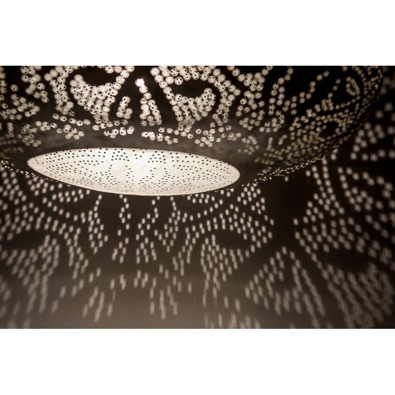 Oosterse Filigrain hanglamp Ufo Vintage Zilver Metaal Industrieel Modern Oosters interieur