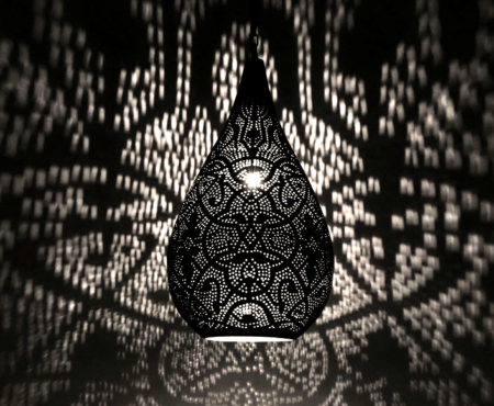 Oosterse filigrain lamp druppel | Oosters interieur | Marokkaanse lamp