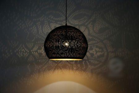 Oosterse filigrain lamp | Oosterse hanglampen | Marokkaanse lamp | Vintage Goud