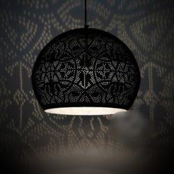 Oosterse filigrain lampen | mat zwart vintage zilver | Marokkaanse lamp | Oosters interieur