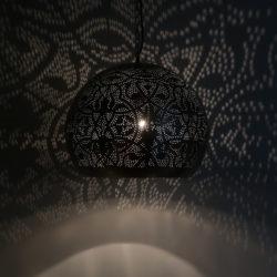 Oosterse hanglampen filigrain vintage zilver Open onderkant eettafellamp Oosters interieur Outlet