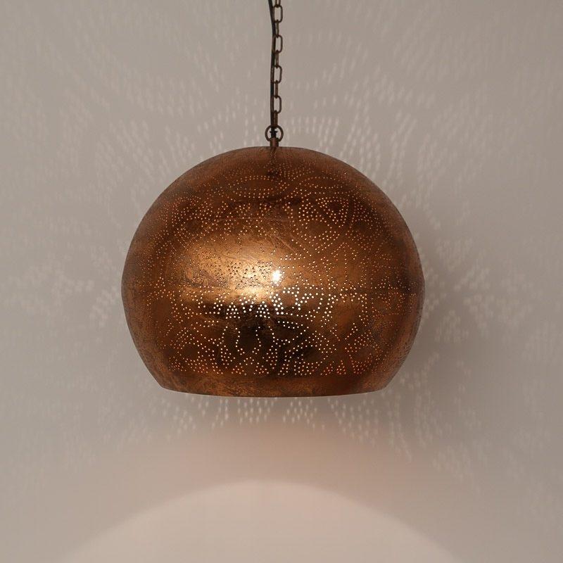Filigrain hanglamp | Oosterse lampen | Vintage koper | Oosters interieur