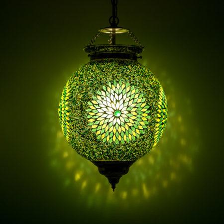 Oosterse lampen mozaïek Arabische hanglamp Groen