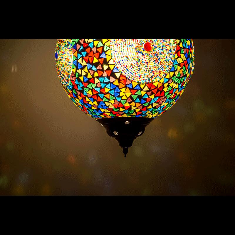 Oosterse lamp kleurrijk glasmozaïek Marokkaanse lampen Arabische verlichting Oosters interieur