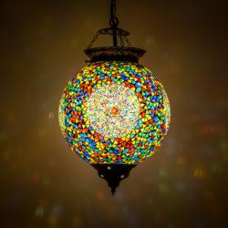 Oosterse lamp met mozaïek alle kleuren lampen Outlet