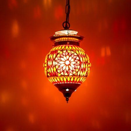 Oosterse hanglamp | mozaiek | Marokkaanse lamp | Oosters interieur