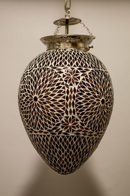 Oosterse mozaiek lamp   Papaya   Marokkaanse lampen