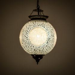 Oosterse hanglamp mozaïek transparant beads en triangles Marokkaanse lamp