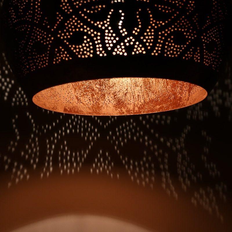 Oosterse hanglampen | Filigrain lamp | Marokkaanse verlichting | Vintage koper | Oosters interieur