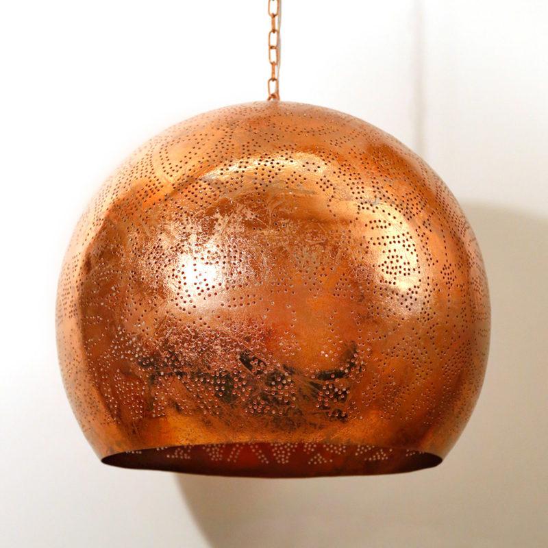 Oosterse lamp | Marokkaanse lampen | Filigrain | Arabisch | Vintage koper | Metaal | Gaatjes lamp