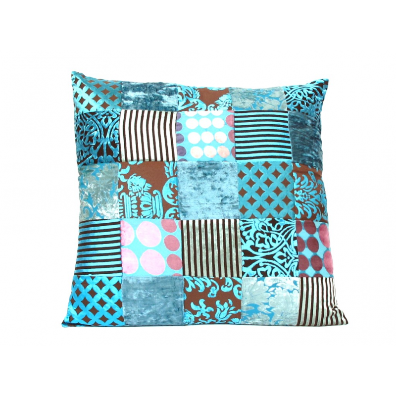 Oosterse kussens | Marokkaans turquoise 60 x 60 cm | Patchwork