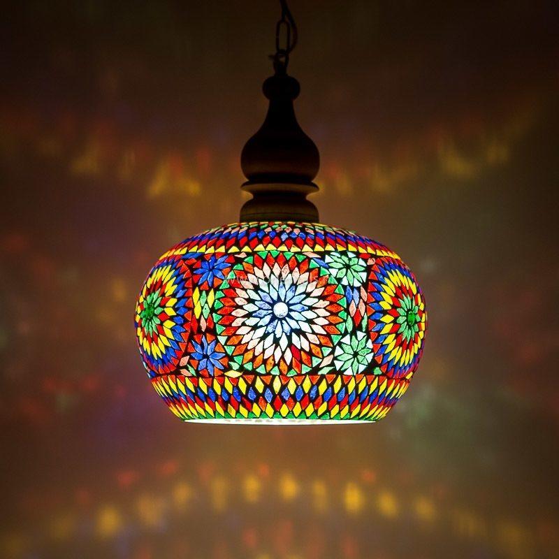 Oosterse lamp Apple Multi-colour Marokkaanse lampen Mozaïek