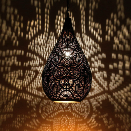 Oosterse hanglamp | Marokkaanse lamp | Filigrain | Druppel