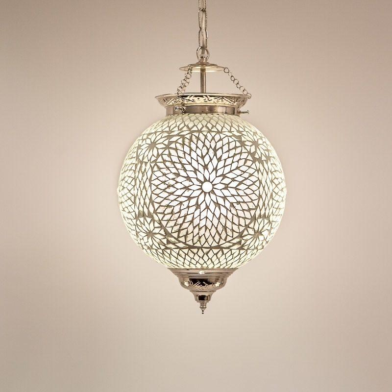 Oosterse lamp glasmozaïek Transparant