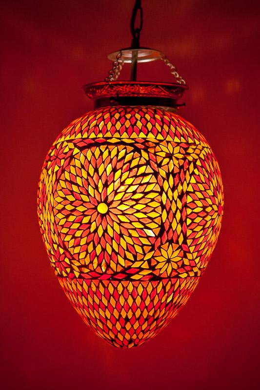 Oosterse mozaiek lamp   Papaya   Rood Oranje   Oosters interieur