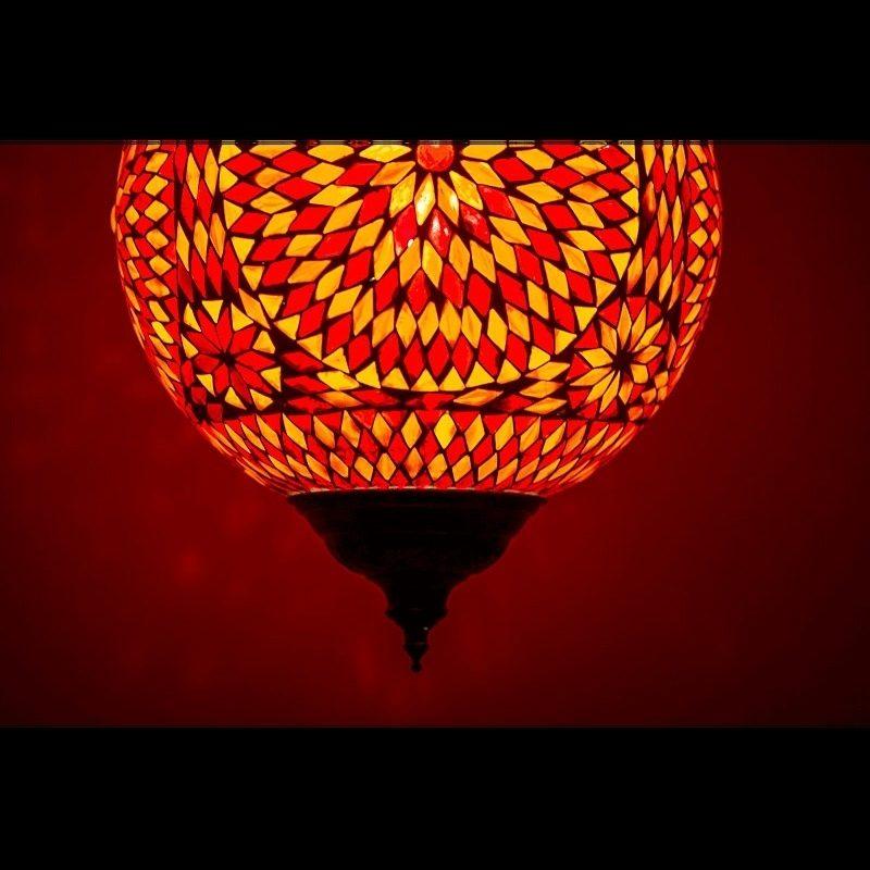 Marokkaanse lampen mozaïek Oosterse hanglamp rood oranje