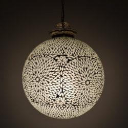 Oosterse hanglamp transparant Marokkaanse lampen Oosters interieur