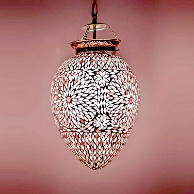 Oosterse mozaïek lampen | Marokkaanse lamp | Oosters interieur | Paars