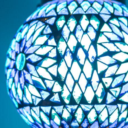Oosterse mozaïek lamp blauw Marokkaanse lampen