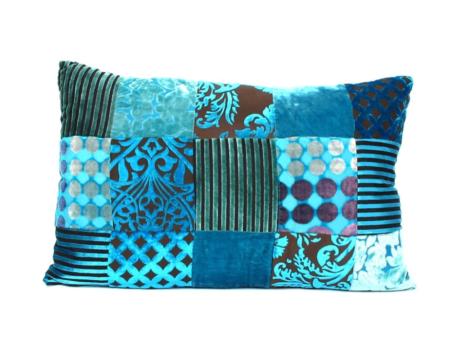 Oosterse kussens | Patchwork | Turquoise | Lounge kussen | Arabisch interieur