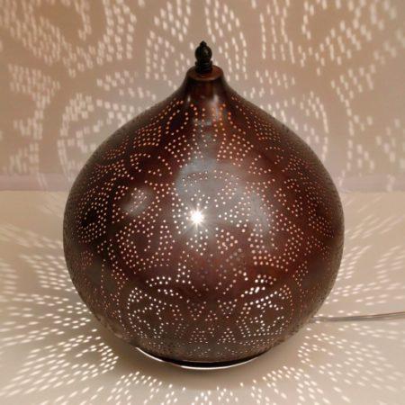 Oosterse tafellamp oni koperkleurig Oosters model