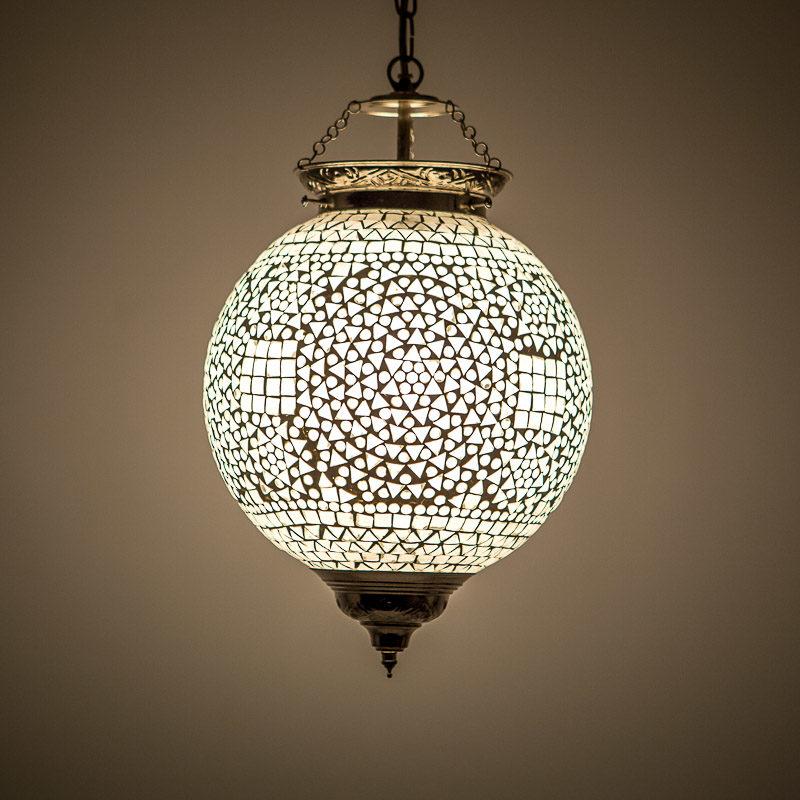 Oosterse hanglamp glasmozaïek transparant