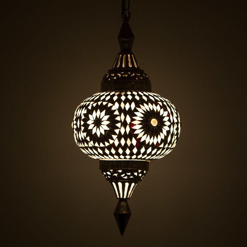 Marokkaanse lampen voor elk interieur Zwart/Wit mozaïek