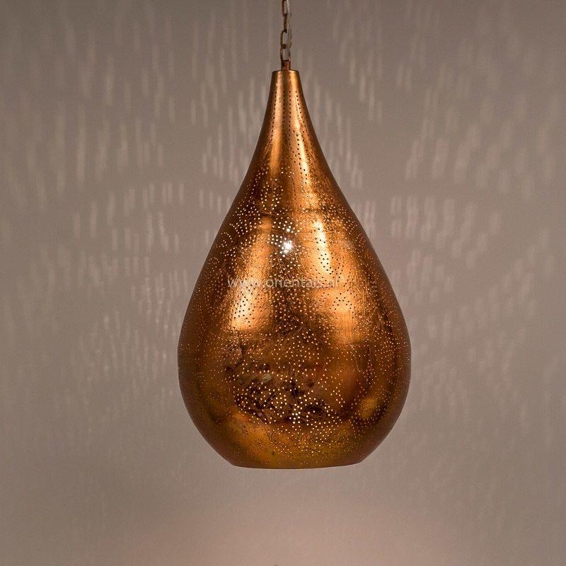 Oosterse filigrain lamp druppel | Vintage koper | Marokkaanse lamp | Oosters interieur