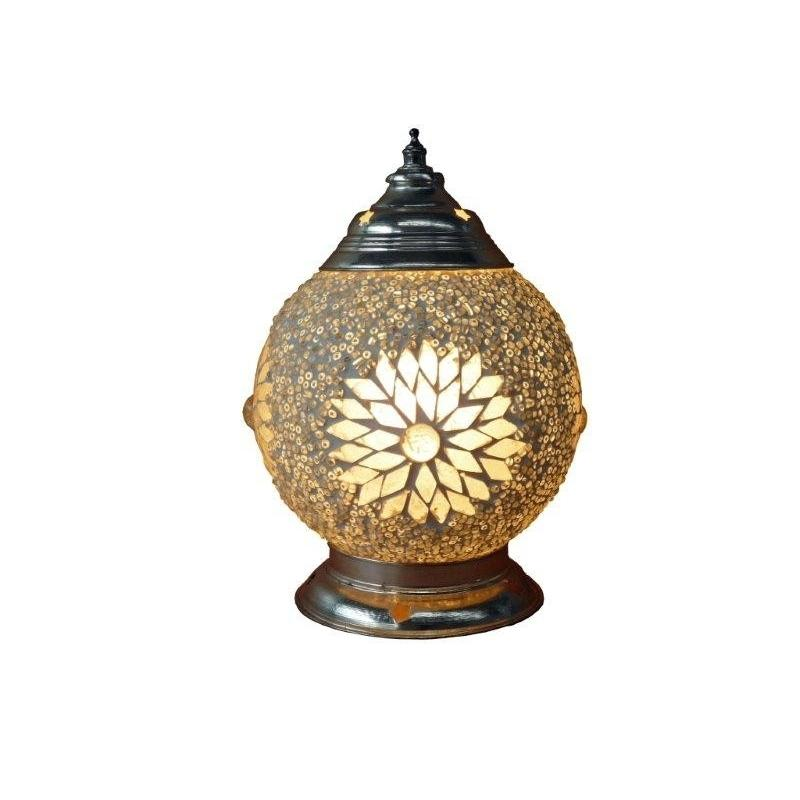 Oosterse tafellamp Transparant mozaïek met Beads