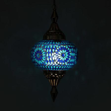 Mozaïek hanglampen Oosterse lamp blauw