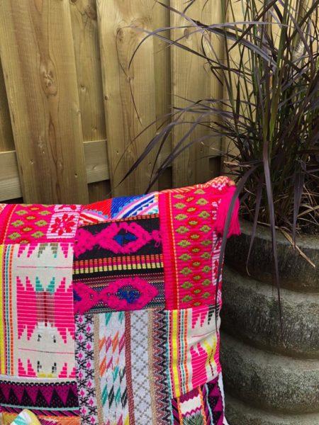 Oosters kussen vintage pink | Marokkaanse kussens | Ibiza kussen