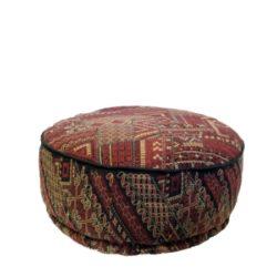 Oosterse poef | Marokkaanse poefen | Rood | Firebrick design | Oosters interieur | Oriëntaalse kussens en poefen
