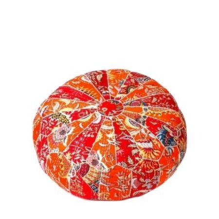 Oosterse poef | Ottoman | Oranje poefen | Arabische kussens | Oosterse poefen | Online kopen