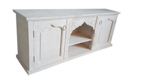 Oosters meubels | Oosters tv-meubel | White wash | Arabische meubelen | Marokkaanse meubels