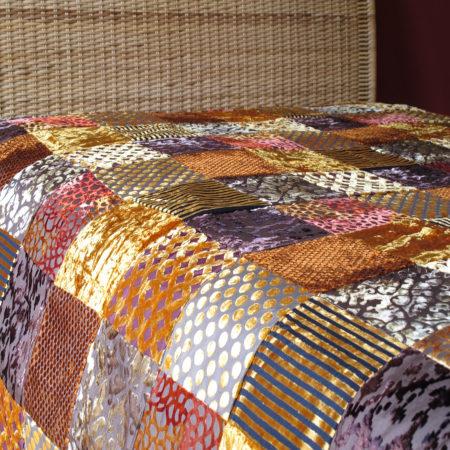 Oosterse beddensprei | Patchwork kleed | Marokkaanse kussens en poefen