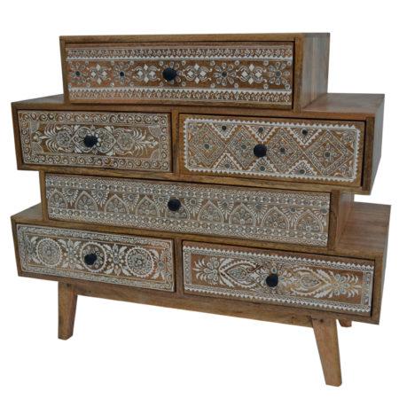 Oosters ladekastje | India meubelen | Oosterse meubels | Amsterdam