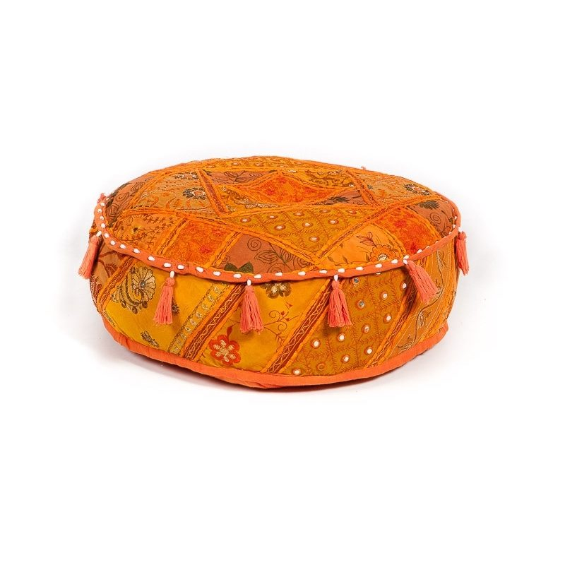 Oosterse poef | patchwork poefen | Oosterse meubels | Marokkaanse kussens