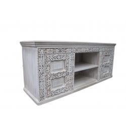 Oosters tv meubel | Oosterse kast | Oosterse meubels | Marokkaanse meubelen | white wash