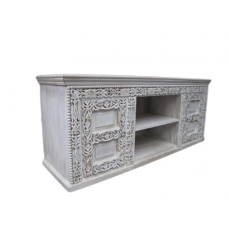 Oosters tv meubel   Oosterse kast   Oosterse meubels   Marokkaanse meubelen   white wash